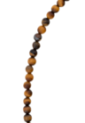 Tiger's Eye Bead Necklace Syrinx, Silver