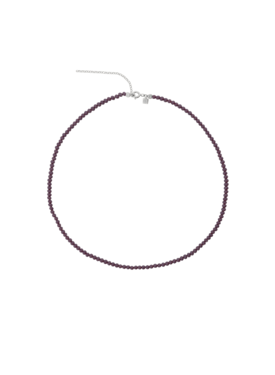 Purple Crystal Bead Necklace Ambriosa, Silver