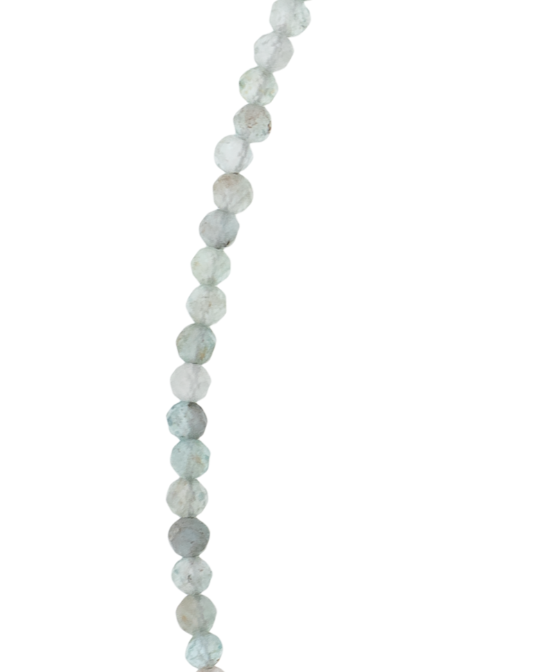 Blue Agate Bead Necklace Arethusa, Silver