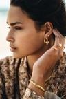 Single Big Twisted Hoop Ariadne, Gold Plated