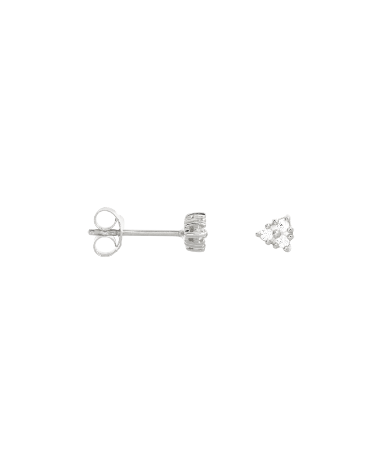 Single Bright Stud Phoibe, Silver