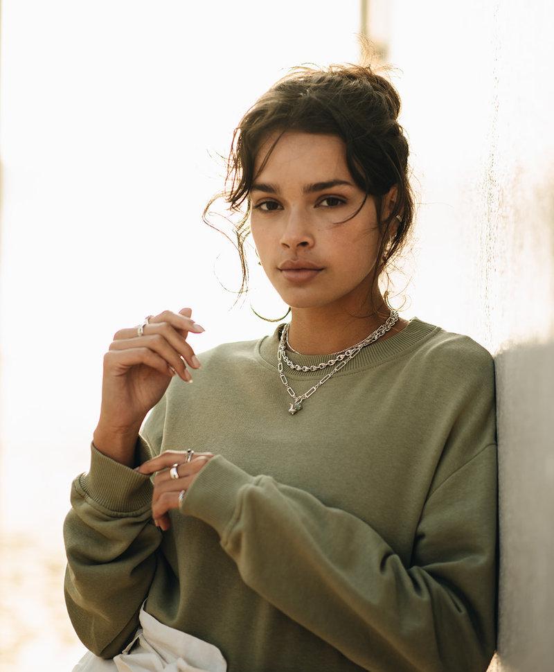 Chunky Necklace Sibyl, Silver