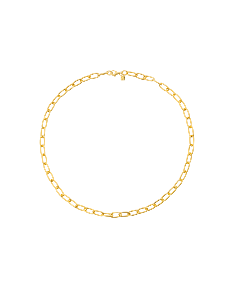 Gold Plated Zware Chunky Ketting Aura