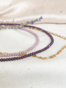Lilac Crystal Bead Necklace Napaea, Gold Plated