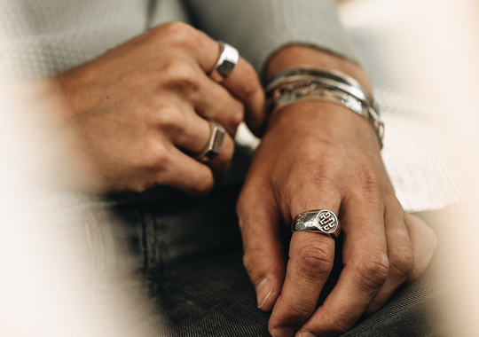 How to wear rings as a man?