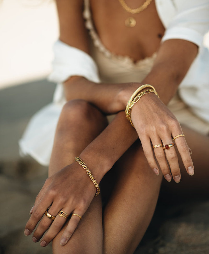 Smoky Quartz Ring Asteria, Gold Plated
