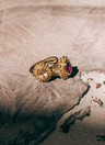 Yellow Citrine Ring Athena, Gold Plated