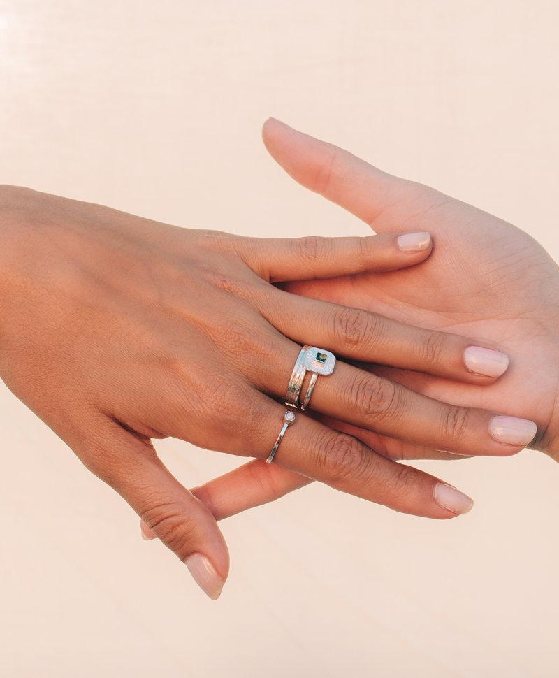 Zilveren Ring Met Groene Kwarts Chak