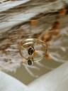 Smoky Quartz Ring Asteria, Gold Plated