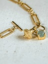 Jade Charm Necklace Penelope, Gold Plated
