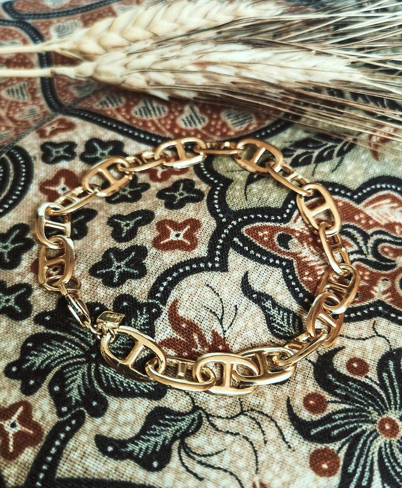 Vintage Bracelet Dione, Gold Plated