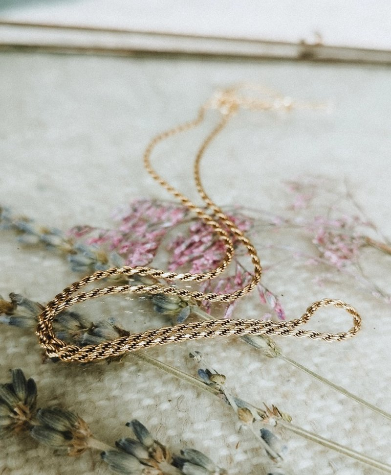 Twisted Necklace Makana, Gold Plated