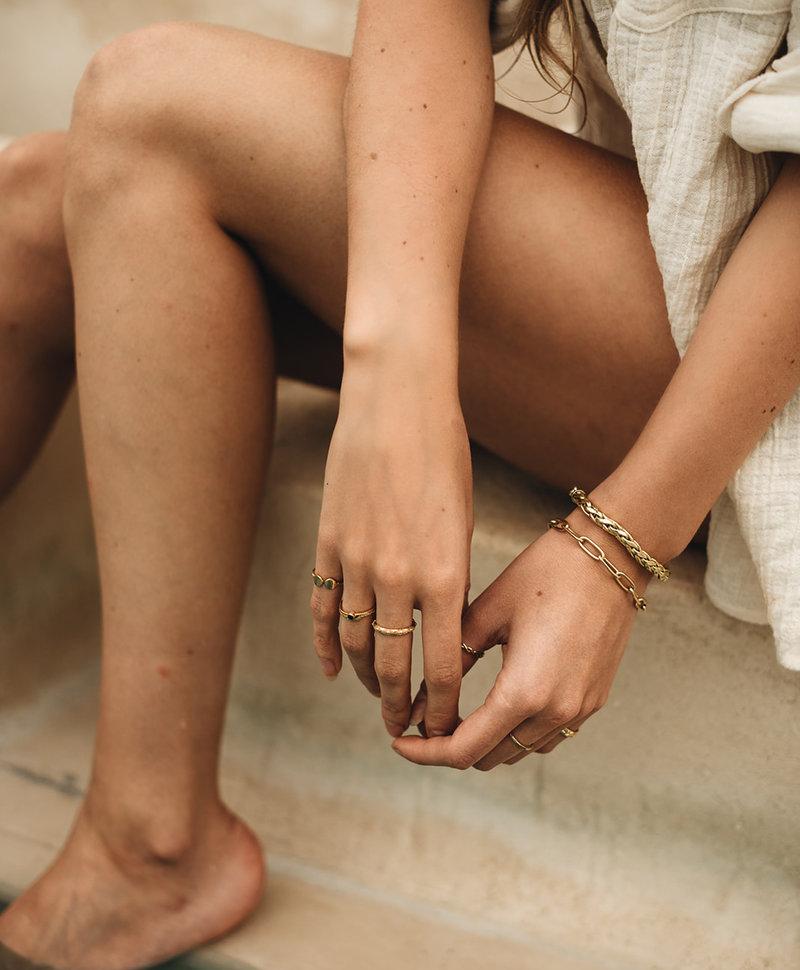 Ohm Charm Bracelet Melpomene, Gold Plated