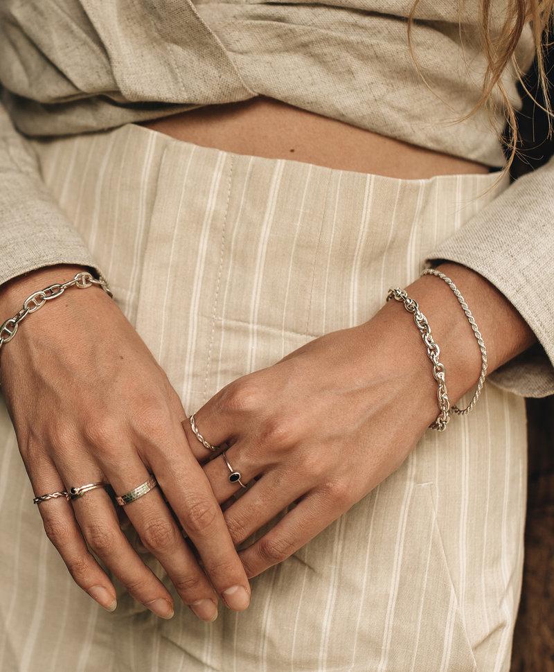 Smoky Quartz Ring Asteria, Silver