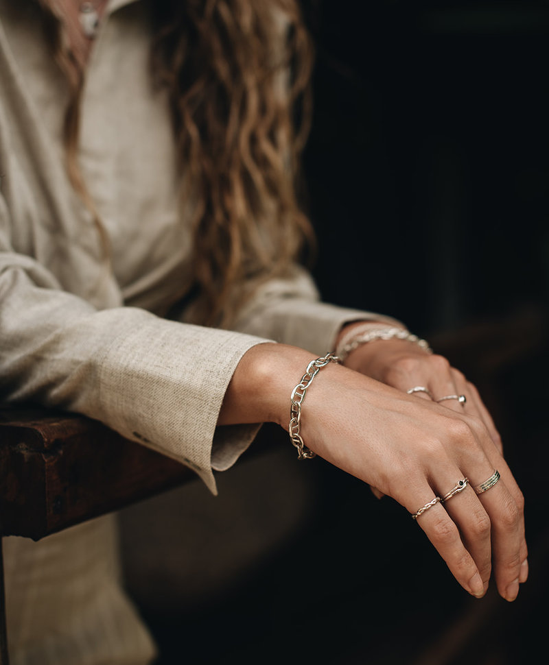 Zilveren Gevlochten Pinkring Hera