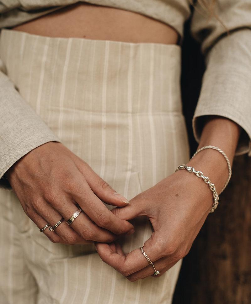 Braided (Pinky) Ring Hera, Silver