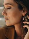 Single Pink Ruby Earring Demeter, Silver
