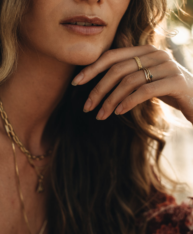 Delicate Stackable Ring Lenka, Gold Plated