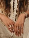 Zilveren Vintage Ring Met Patroon Aurora