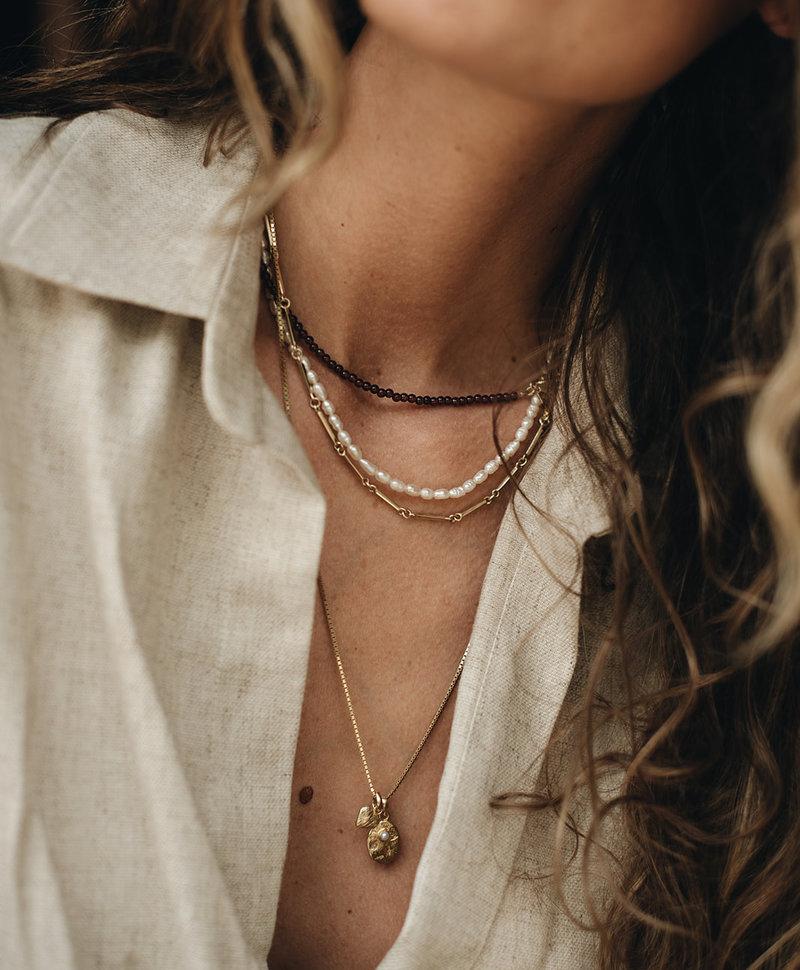 Vintage Necklace Helene, Gold Plated