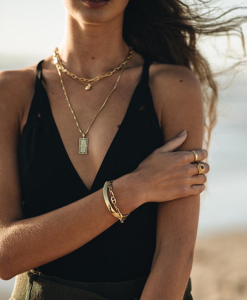 Gold Plated Cuff Armband Cyrene