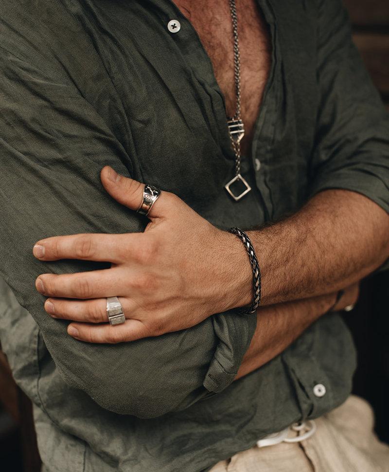 Zilveren Robuuste Mannen Ring Jabali