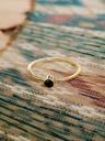 Zilveren Minimalistische Ring Met Onyx Keala