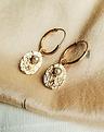 Single Vintage Pearl Earring Bela, Gold Plated