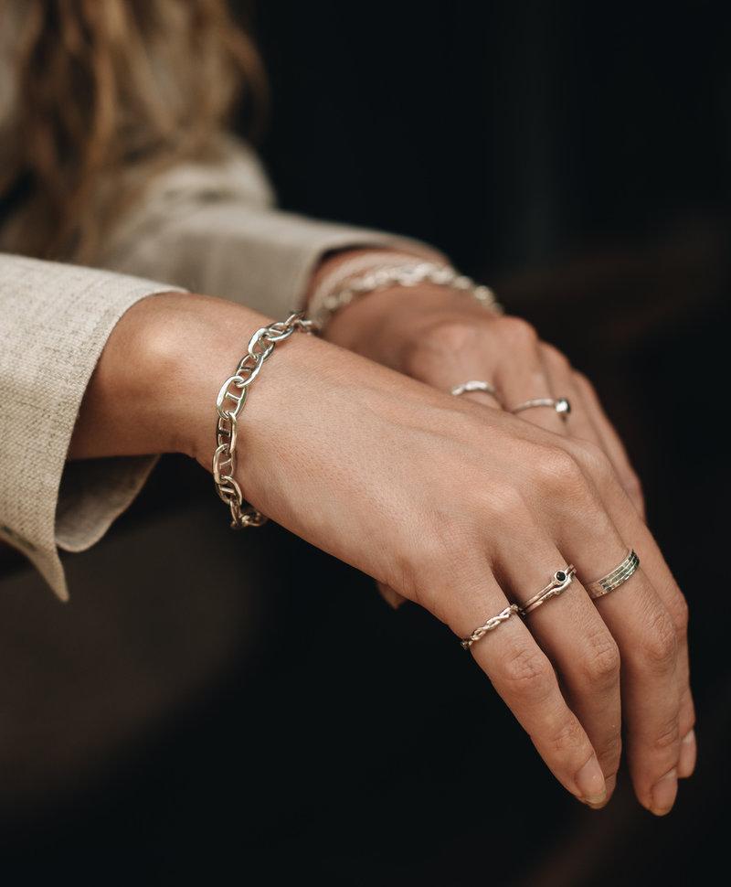 Zilveren Fijne Stackable Ring Elgiva