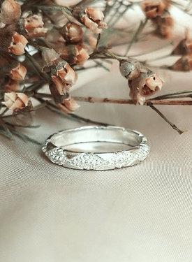 Vintage Pattern Ring Aurora, Silver