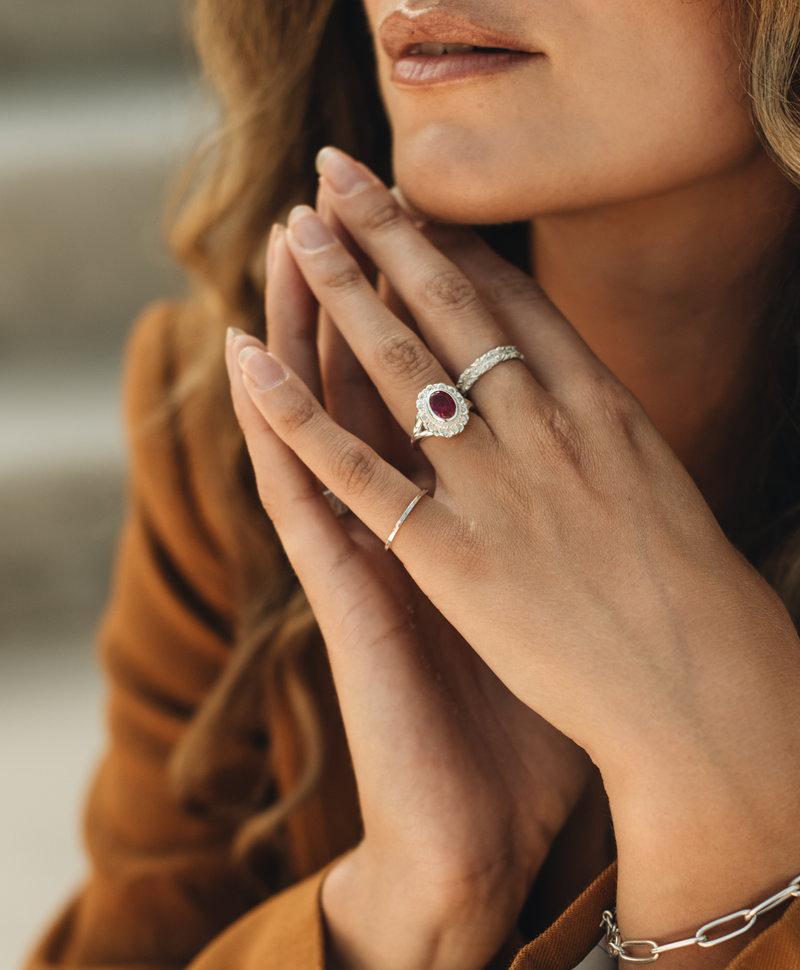Delicate Stackable Ring Lenka, Silver