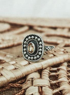 Zilveren Ring Met Citrien Uma