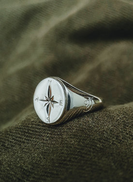 Signet Ring With Compass True North Nomad