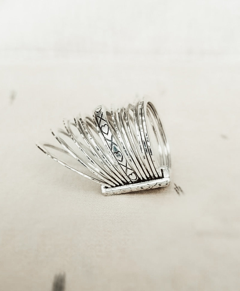 Stacked Ring Tennessee, Silver