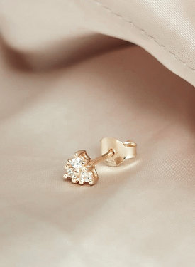 Single Bright Stud Phoibe, Gold Plated