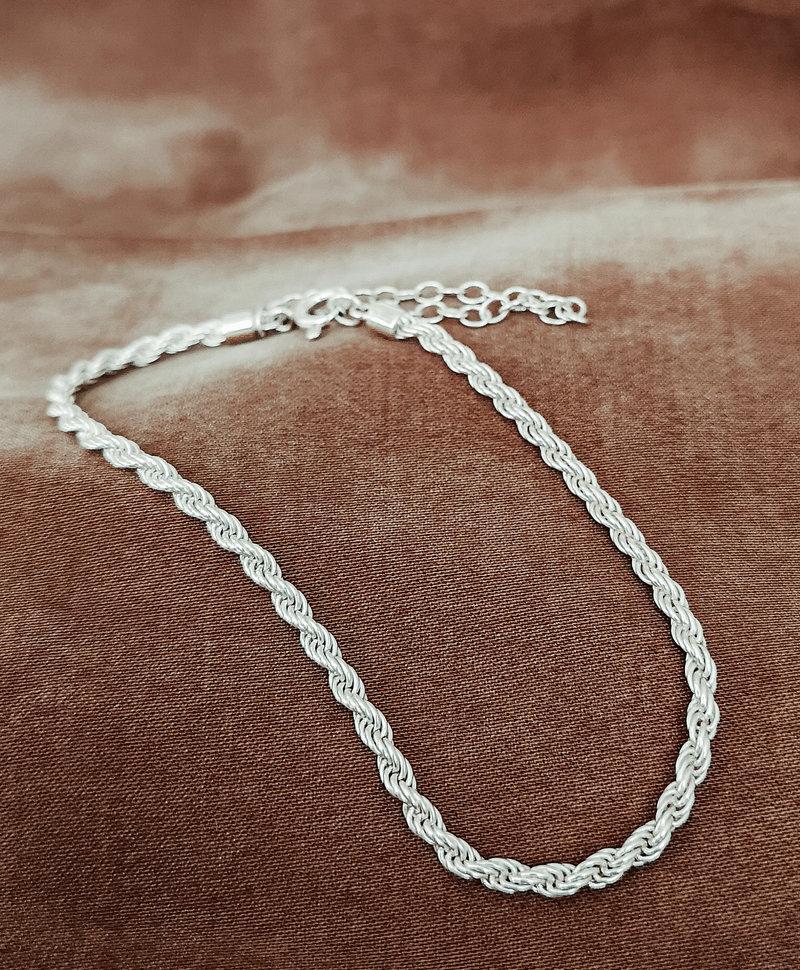 Zilveren Gedraaide Armband Makana