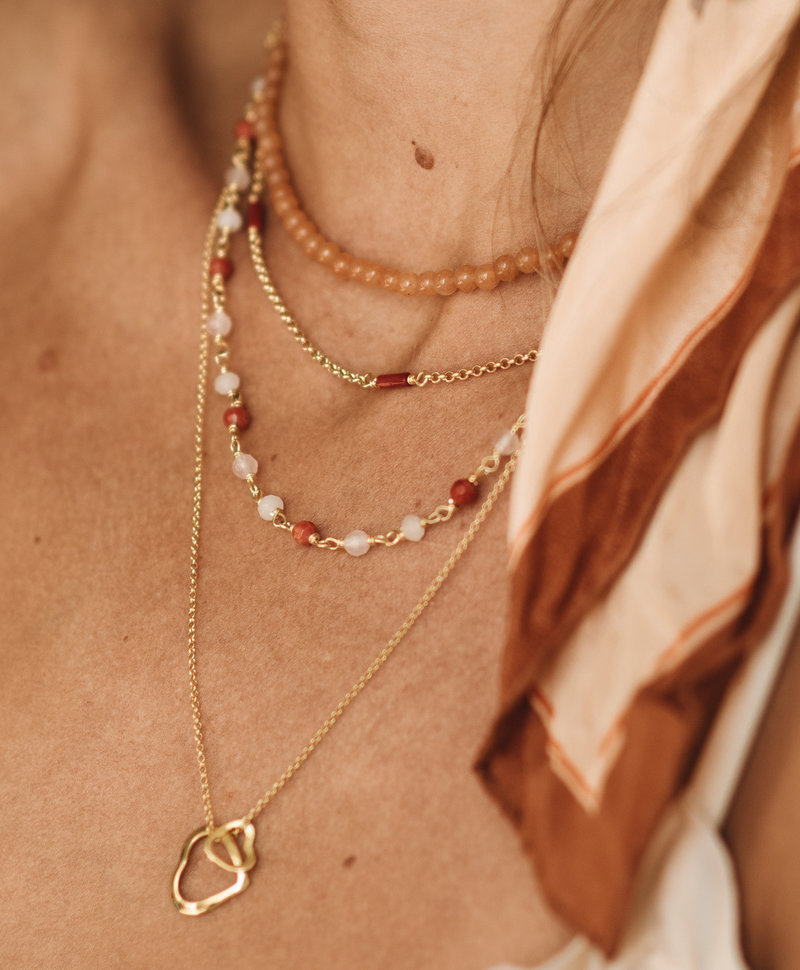 Fine Necklace Chessa, Gold Plated