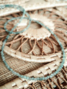 Blue Agate Bead Necklace Arethusa, Gold Plated