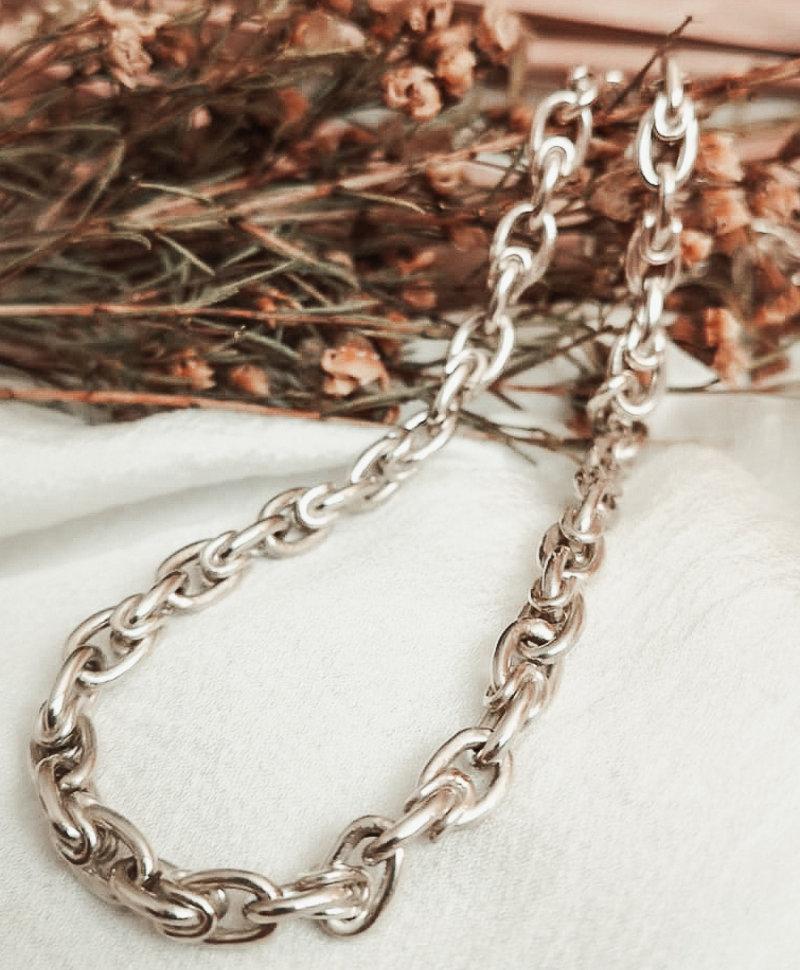 Zilveren Chunky Schakelketting Sibyl