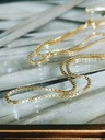 Square Snake Chain Necklace Lesedi, Gold Plated