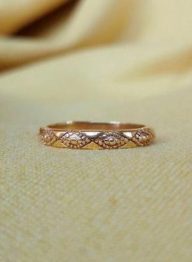 Vintage Pattern Ring Aurora, Gold Plated