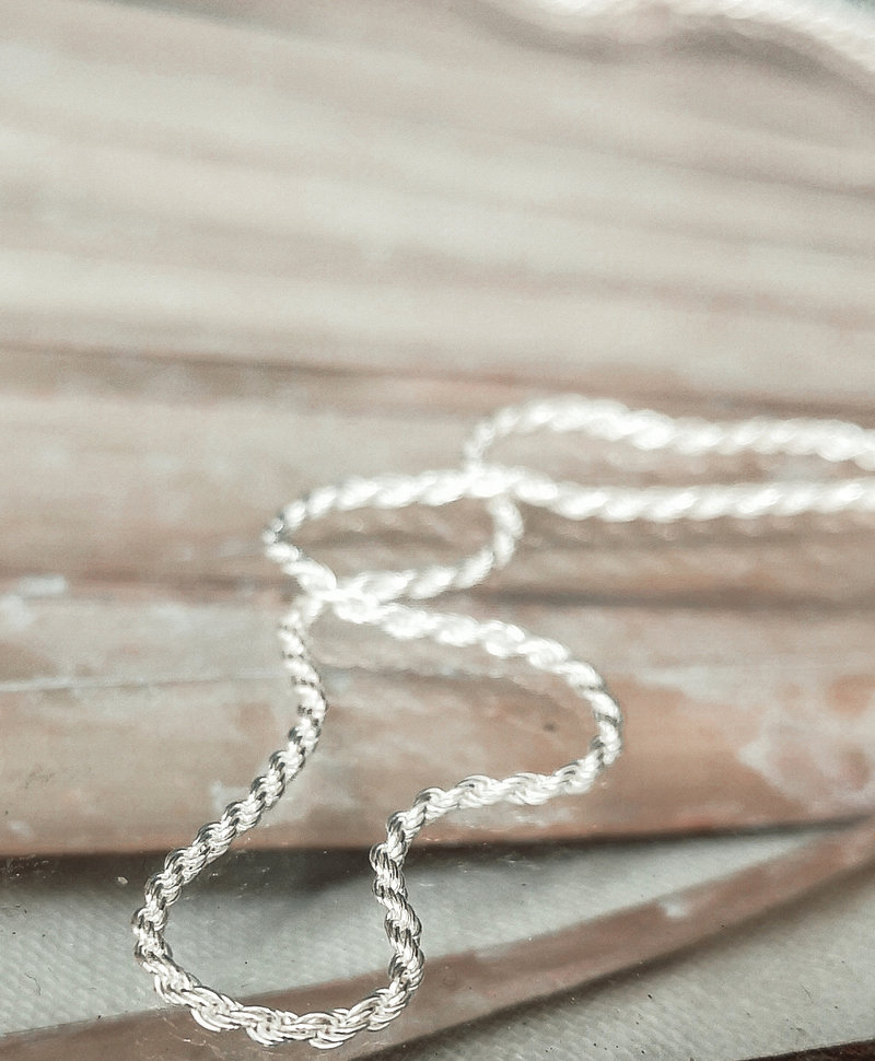 Twisted Necklace Makana, Silver
