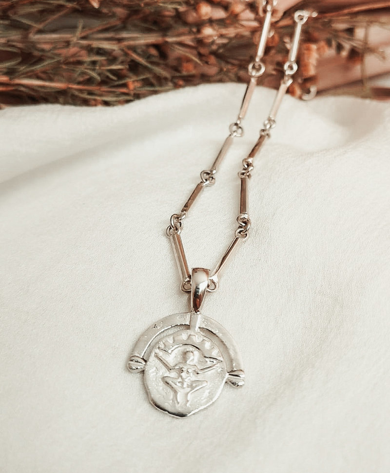 Pachamama Pendant, Silver