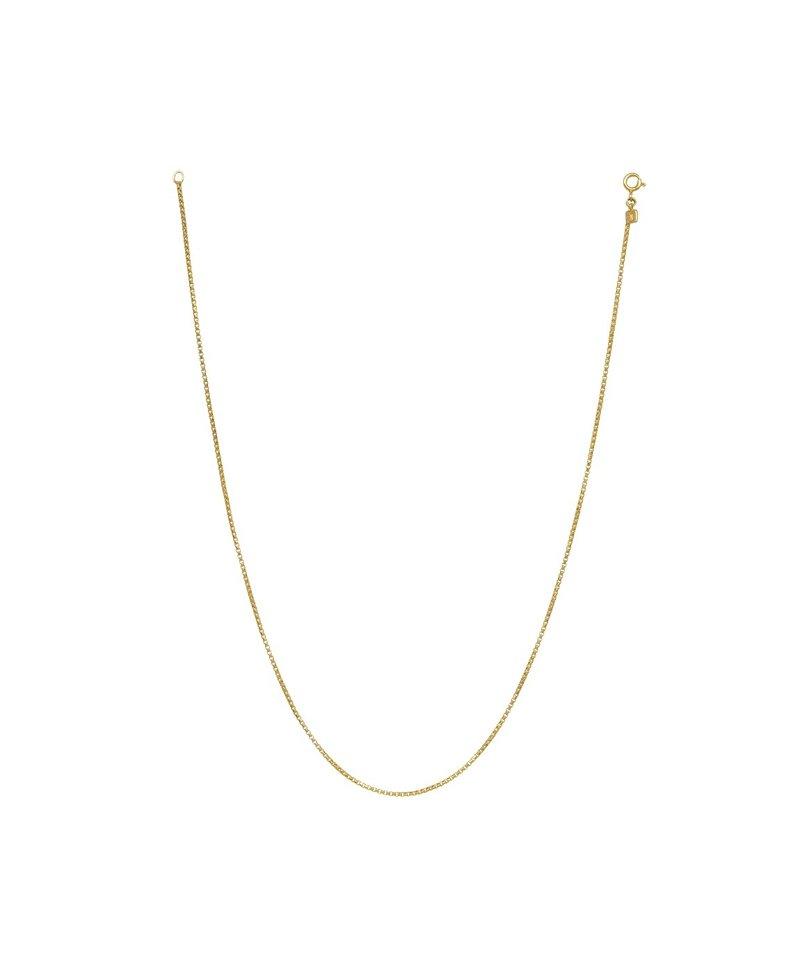 Gold Plated Heren Box Chain Ketting Lesedi
