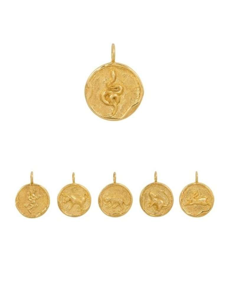 Gold Plated Chinese Sterrenbeeld mannenhangers