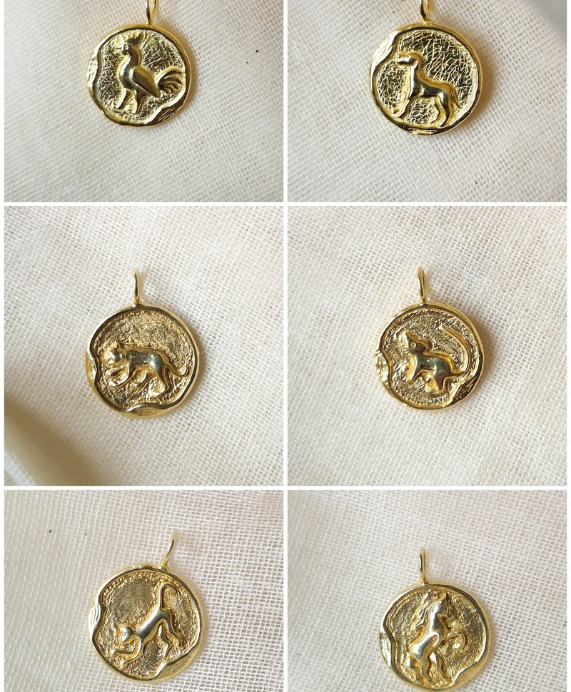 Gold Plated Chinese Sterrenbeeld Hangers