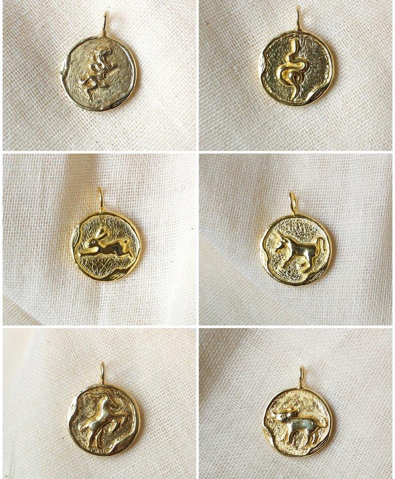 Gold Plated Chinese Zodiac Pendants