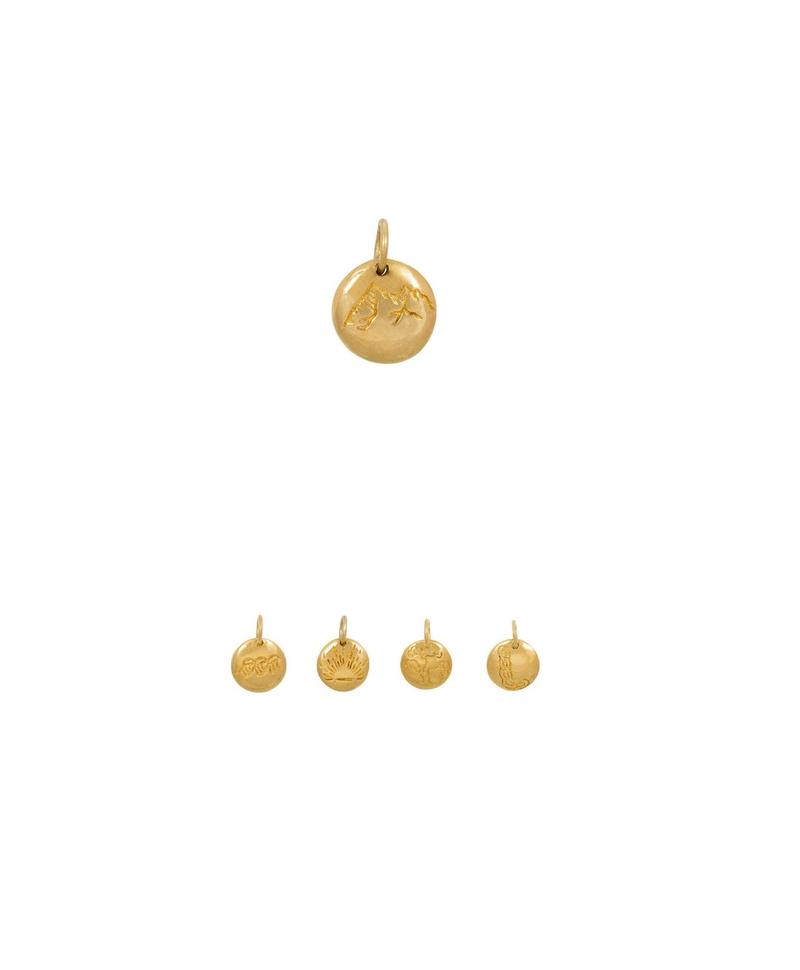 Gold Plated Natuur Element Herenhanger