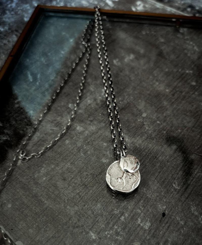 Silver Chinese Men's Element Pendants