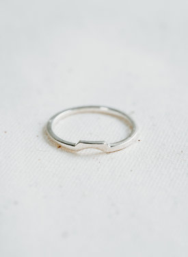 Square Stackable Ring Elgiva, Silver